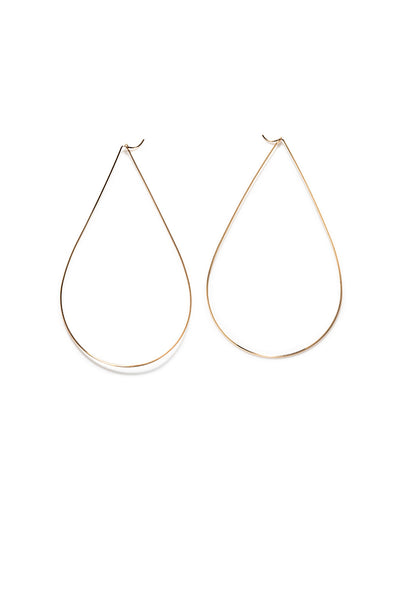 LARGE TEAR DROP HOOP EARRINGS