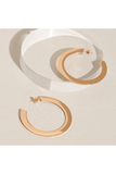 ROSE GOLD BIG FLAT HOOP EARRINGS