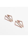 ROSE GOLD DOUBLE TRIANGLE EARRINGS