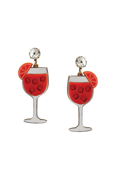 APEROL SPRITZ EARRINGS