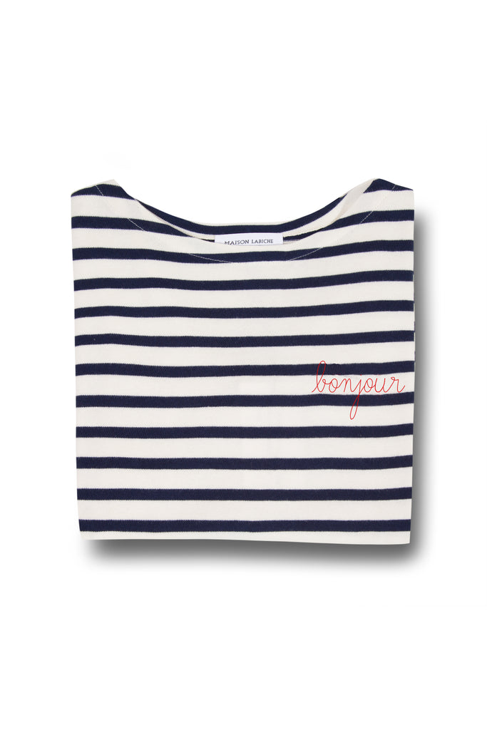 """BONJOUR"" BRETON LONG SLEEVE TOP"