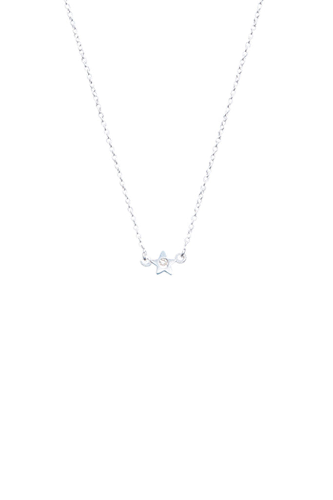 DIAMOND LITTLE STAR SILVER NECKLACE