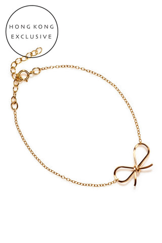 14K GOLD FILL BOW BRACELET