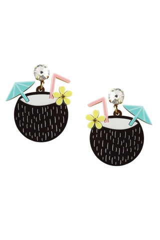 COCONUT TIKI EARRINGS