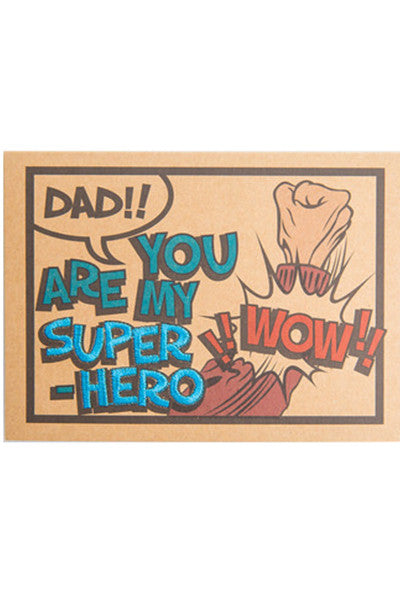 "POP ART ""DAD, YOU ARE MY SUPER HERO"" CARD"