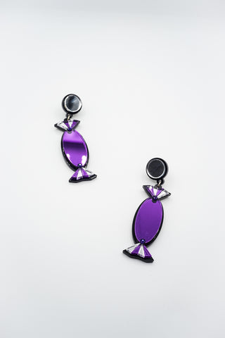 PURPLE QUALITY TREATS EARRINGS