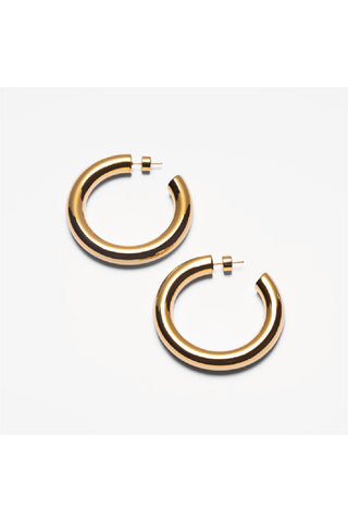 GOLD CHUNKY HOOPS EARRINGS