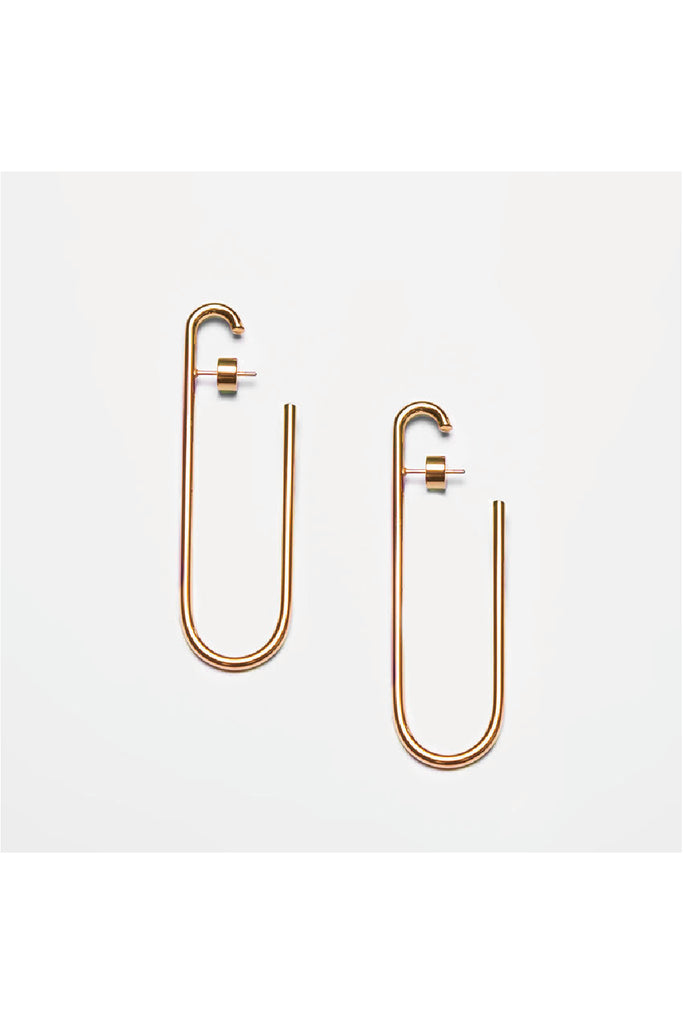 GOLD LONG HOOPS EARRINGS