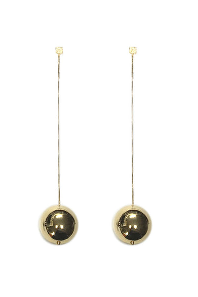 GOLD BALL DROP EARRINGS