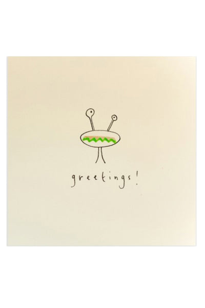 "ALIEN ""GREETINGS"" BIRTHDAY CARD"