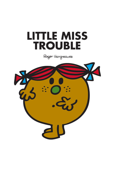 LITTLE MISS TROUBLE PERSONALISED ART PRINT