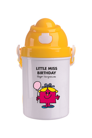 LITTLE MISS BIRTHDAY PERSONALISED CHILDRENS WATER FLASK