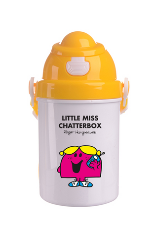 LITTLE MISS CHATTERBOX PERSONALISED CHILDRENS WATER FLASK