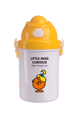LITTLE MISS CURIOUS PERSONALISED CHILDRENS WATER FLASK