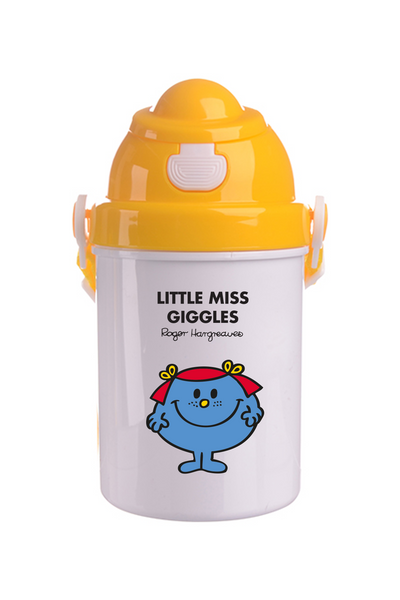 LITTLE MISS GIGGLES PERSONALISED CHILDRENS WATER FLASK