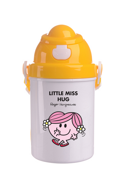 LITTLE MISS HUG PERSONALISED CHILDRENS WATER FLASK