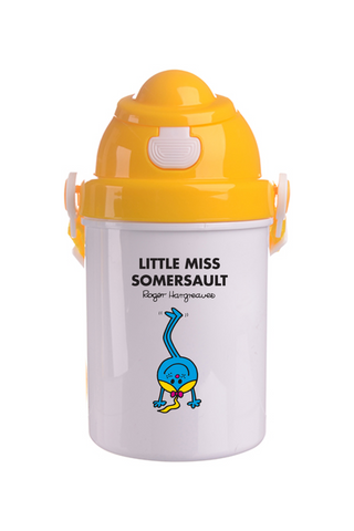 LITTLE MISS SOMERSAULT PERSONALISED CHILDRENS WATER FLASK