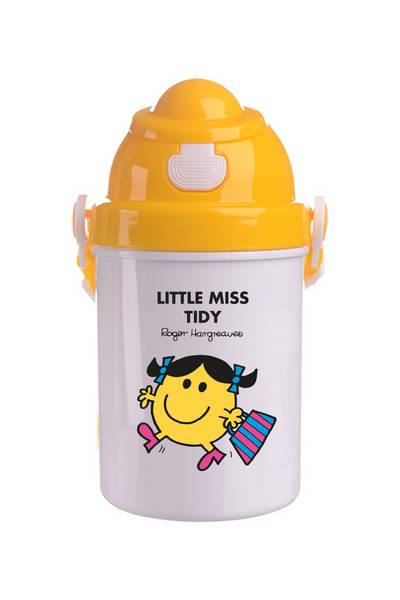 LITTLE MISS TIDY PPERSONALISED CHILDRENS WATER FLASK