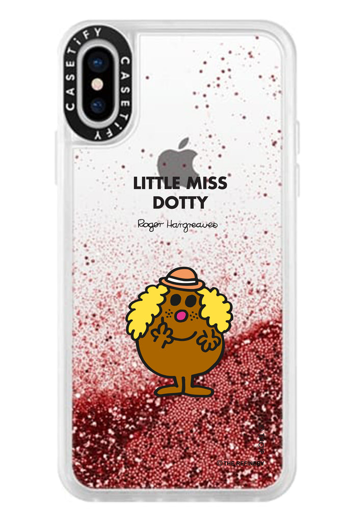 LITTLE MISS DOTTY PERSONALISED GLITTER PHONE CASE BY CASETIFY
