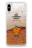 LITTLE MISS GREEDY PERSONALISED GLITTER PHONE CASE BY CASETIFY