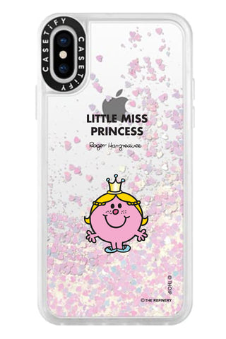 LITTLE MISS PRINCESS PERSONALISED GLITTER PHONE CASE BY CASETIFY