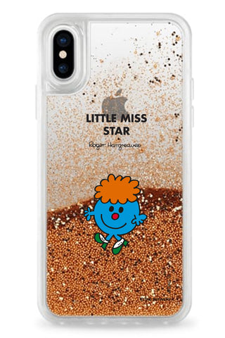 LITTLE MISS STAR PERSONALISED GLITTER PHONE CASE BY CASETIFY
