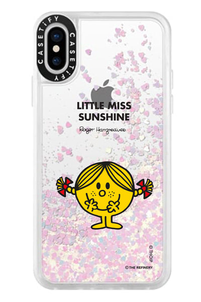 LITTLE MISS SUNSHINE PERSONALISED GLITTER PHONE CASE BY CASETIFY