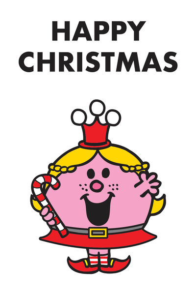 "LITTLE MISS PRINCESS CANDY ""HAPPY CHRISTMAS"" CARD"