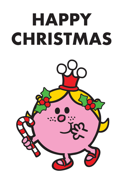 "LITTLE MISS PRINCESS CANDY + HOLLY ""HAPPY CHRISTMAS"" CARD"
