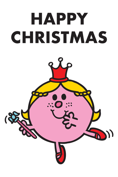 "LITTLE MISS PRINCESS DANCING ""HAPPY CHRISTMAS"" CARD"