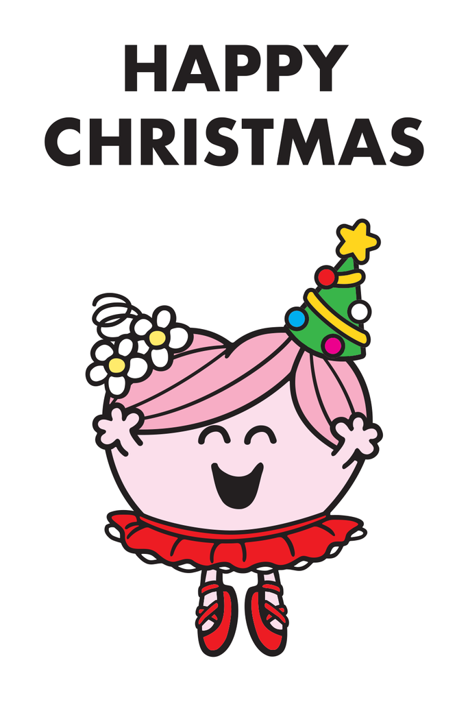 "LITTLE MISS HUG ""HAPPY CHRISTMAS"" CARD"