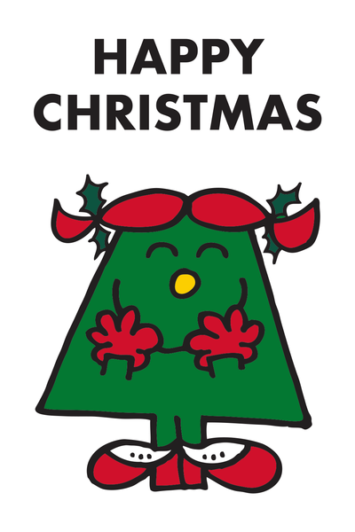 "LITTLE MISS CHRISTMAS ""HAPPY CHRISTMAS"" CARD"