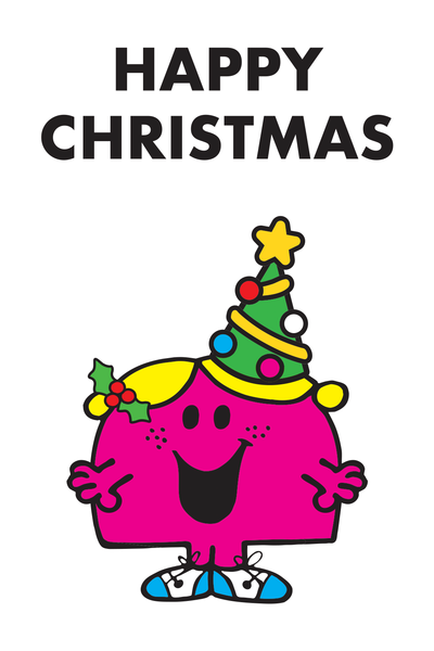 "LITTLE MISS CHATTERBOX ""HAPPY CHRISTMAS"" CARD"