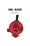 MR. RUDE PERSONALISED ART PRINT