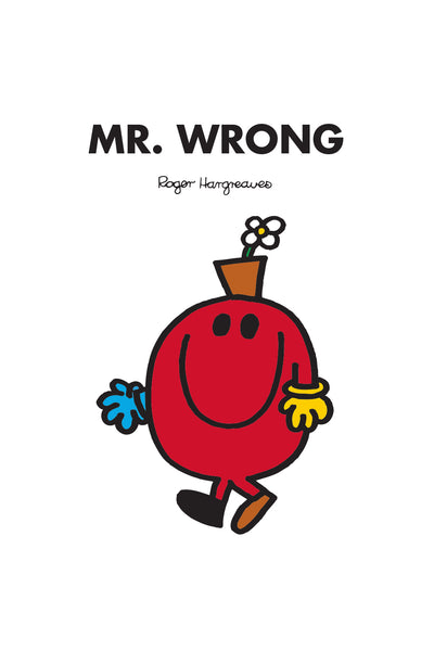MR. WRONG PERSONALISED ART PRINT