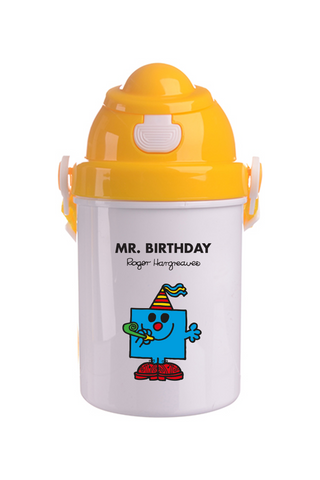 MR. BIRTHDAY PERSONALISED CHILDRENS WATER FLASK