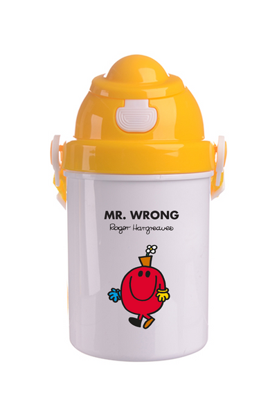 MR. WRONG PERSONALISED CHILDRENS WATER FLASK