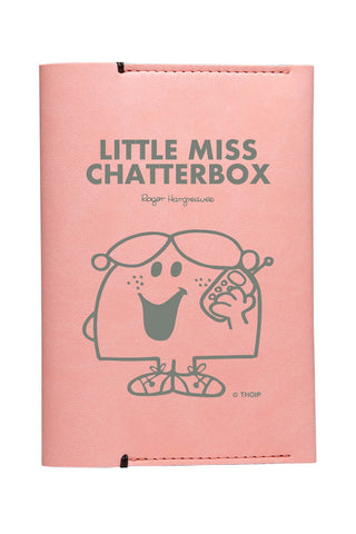 LITTLE MISS CHATTERBOX  PERSONALISED PASSPORT HOLDER
