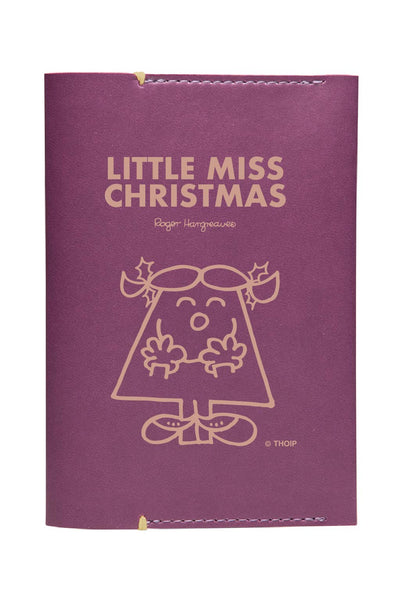 LITTLE MISS CHRISTMAS  PERSONALISED PASSPORT HOLDER