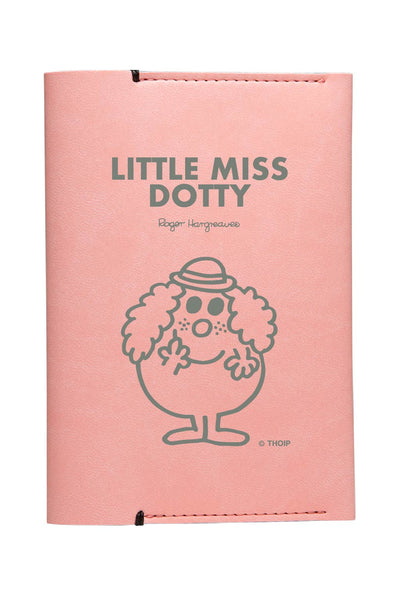 LITTLE MISS DOTTY  PERSONALISED PASSPORT HOLDER