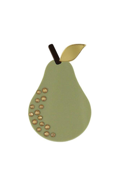 PEAR DROP BROOCH