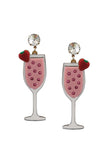 STRAWBERRY MIMOSA EARRINGS