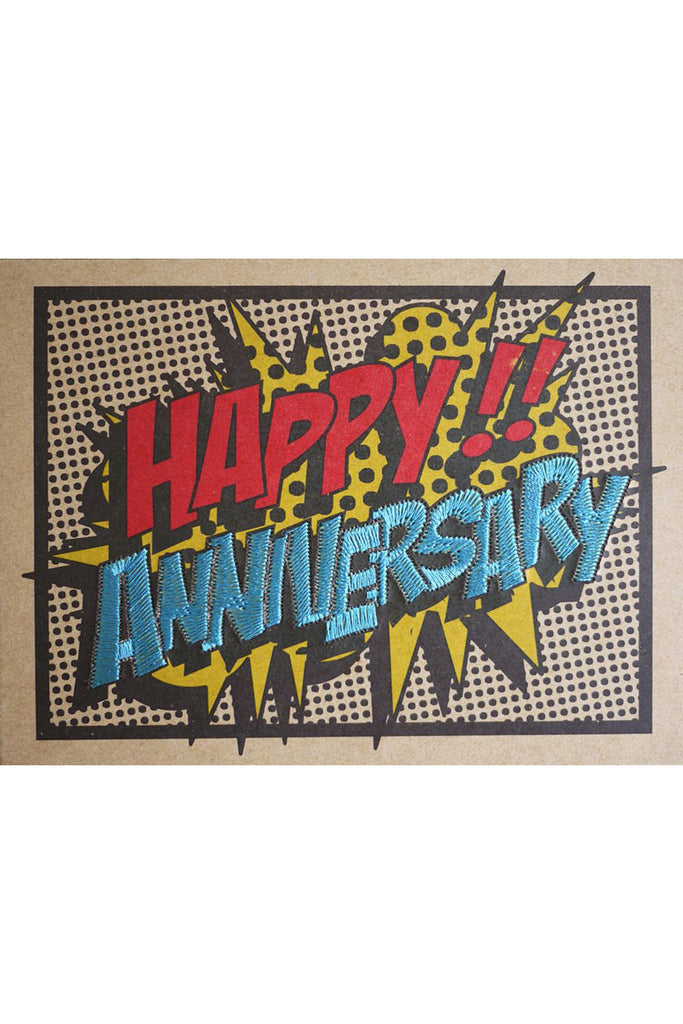 "POP ART ""HAPPY ANNIVERSARY"" CARD"