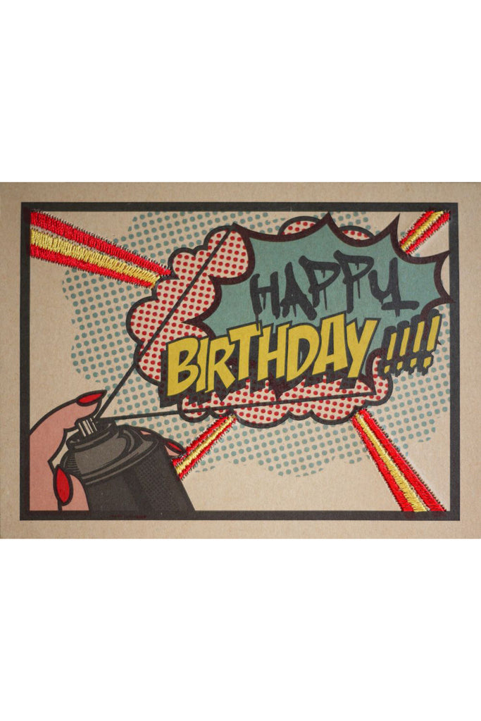 "POP ART SPRAY PAINT ""HAPPY BIRTHDAY"" CARD"