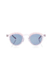 FAUX PEARLS CLEAR SUNGLASSES