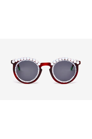 FAUX PEARLS TORTOISE SHELL SUNGLASSES