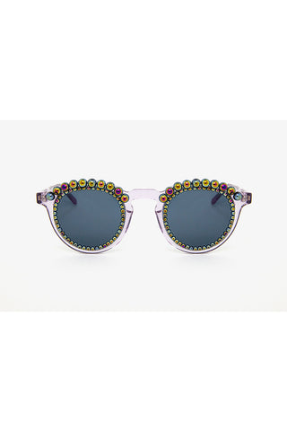 PETROL FAUX PEARLS SUNGLASSES