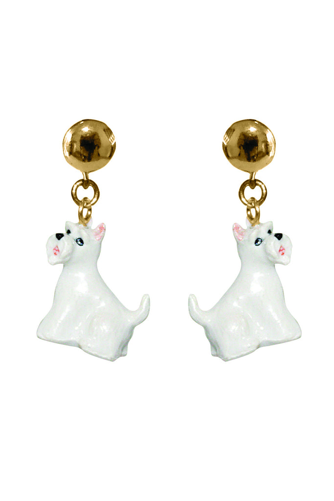 SCOTTISH TERRIER DOG DROP EARRINGS