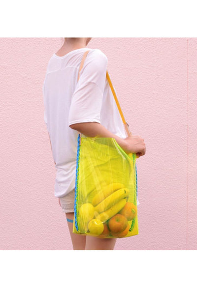 YELLOW CLEAR PVC SHOULDER BAG