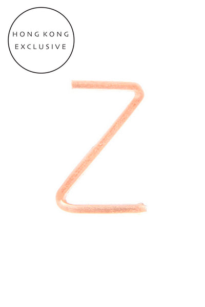 "14K GOLD FILL ""Z"" SINGLE EARRING"